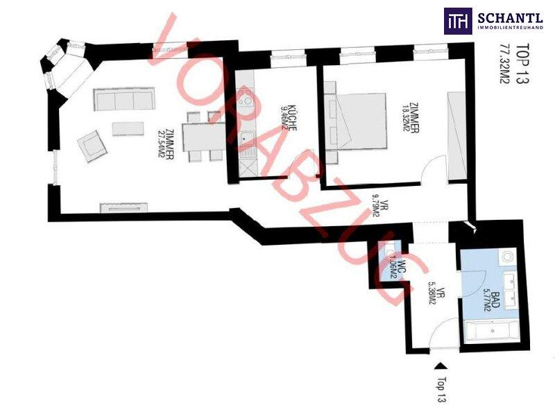 Traumhaft sanierte Eckwohnung in rundum saniertem und wunderschönem Altbauhaus! Perfekte Aufteilung + Optimale Anbindung! /  / 1090Wien / Bild 5