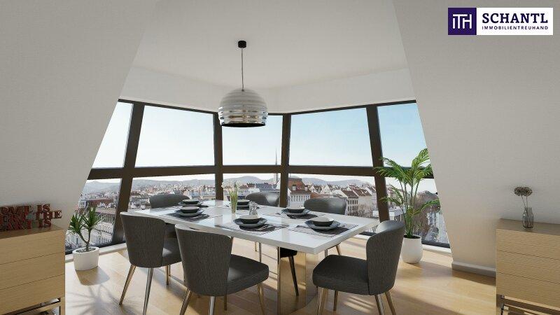 WOW! Traumhafter Blick + Perfekt aufgeteilte Eckwohnung im Dach + Lichtdurchflutet! Wunderschönes Altbauhaus mit starker Architektur! /  / 1090Wien / Bild 1