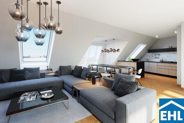 WEITBLICK: DG-Ausbau im wunderschön saniertem Altbau mit Dachterrasse