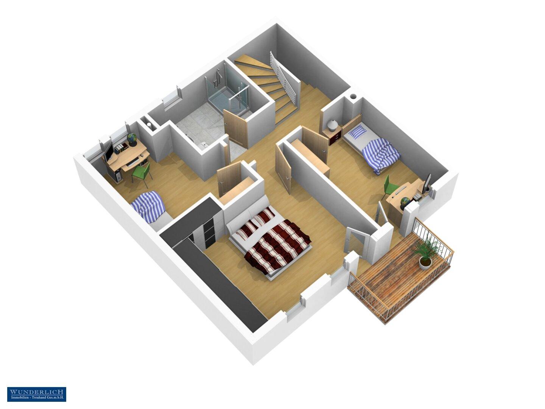 3D-Ansicht 2, 1. Stock