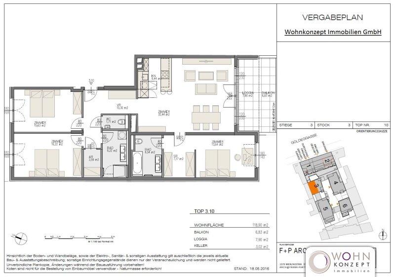 Goldegg Gardens: 127m² Erstbezug + 15m² Süd-Balkon - 1040 Wien /  / 1040Wien / Bild 8