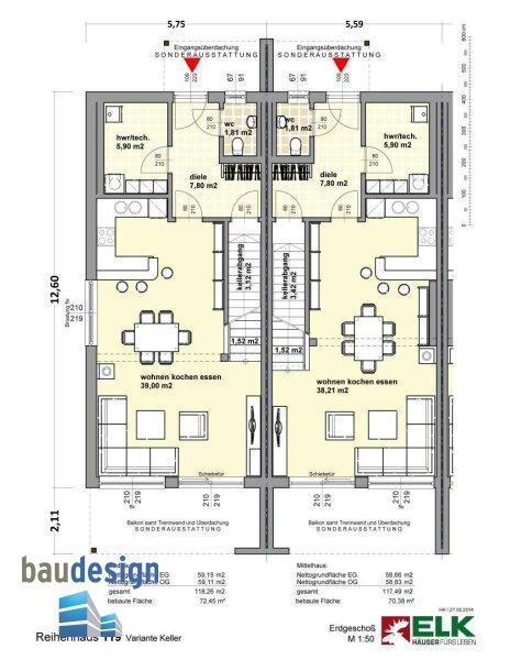 Korneuburg - exklusive Doppelhaushälfte auf Baurecht - NEUBAU /  / 2100Korneuburg / Bild 1
