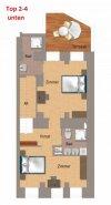 ERSTBEZUG - 4 Zimmer ALTBAU top saniert - Maisonette Hochparterre und Souterrain - 1030 Wien ------ U Bahn Nähe - LOGGIA und TERASSE - Schlafzimmer Hofseitig
