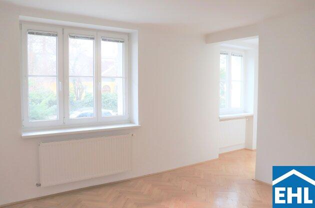 Wohnen im grünen Westen: westseitige 2-Zimmer-Wohnung nahe Allianz Stadion