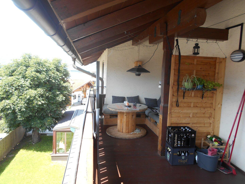 Relaxbereich am Balkon