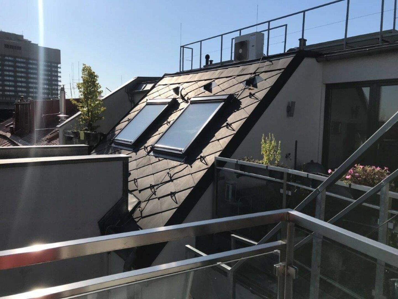 Dachterrasse mit blick über Wien