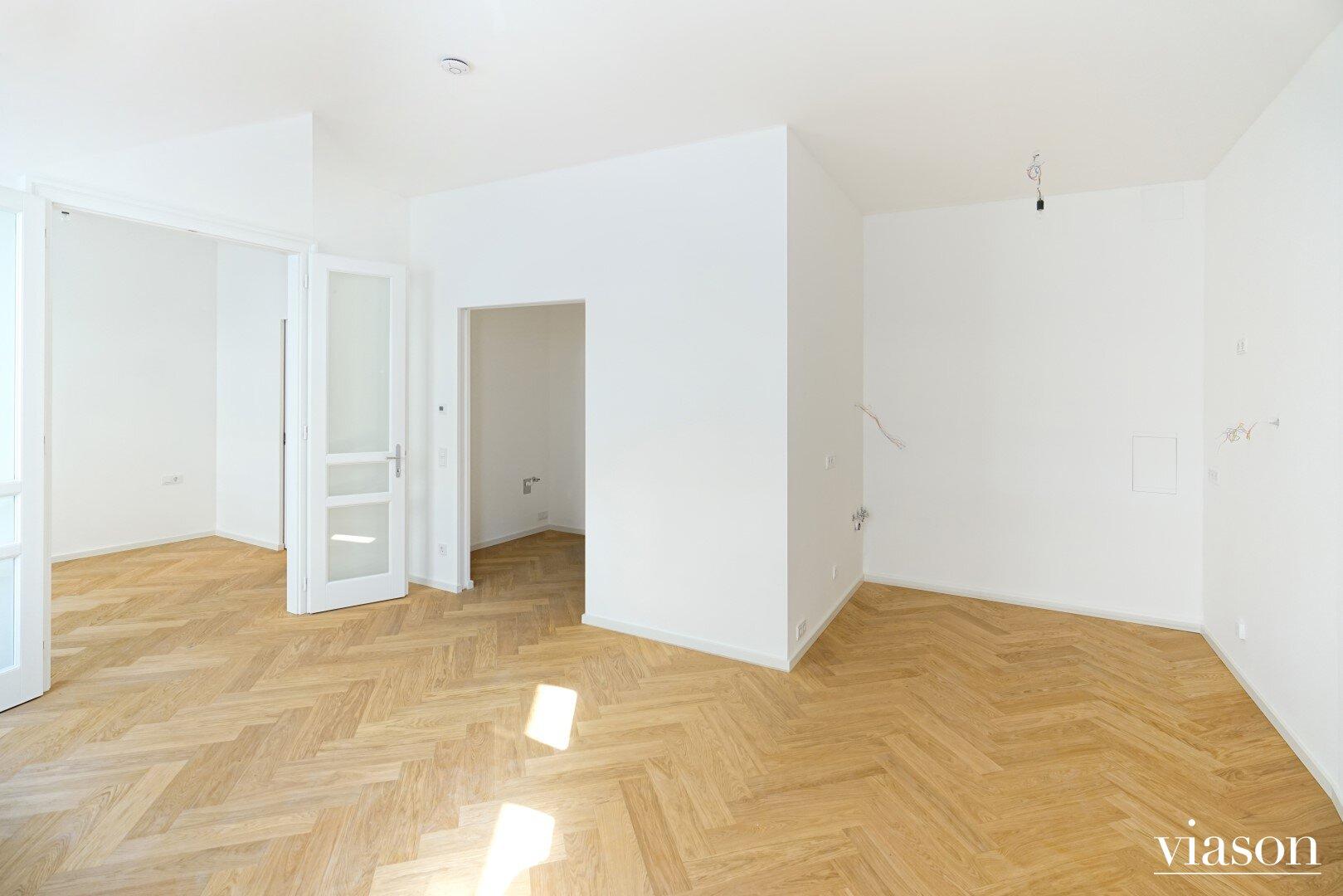 Wohnzimmer und Küchenanschlüsse