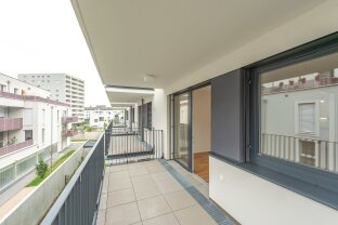 ideale 2 Zimmer Erstbezugswohnung mit Balkon & Tiefgaragenstellplatz - ab sofort!