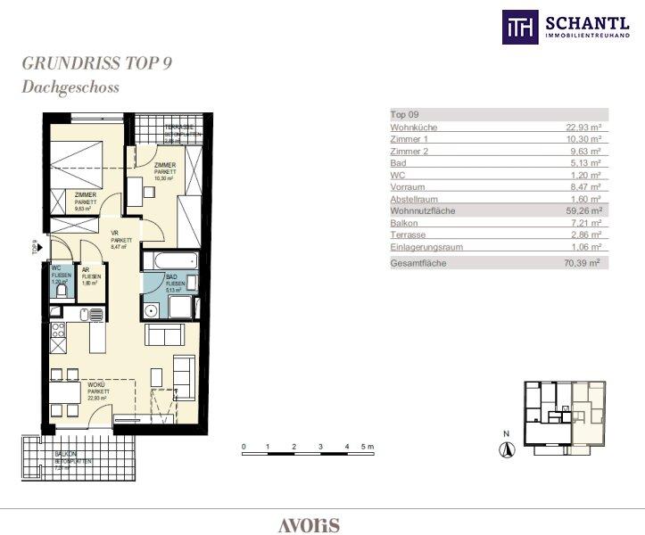 Ab ins Dachgeschoss mit großer Sonnenterrasse + 3-Zimmer + stylisch & modern in 8020 Graz - Nähe FH Joanneum! /  / 8020Graz / Bild 4