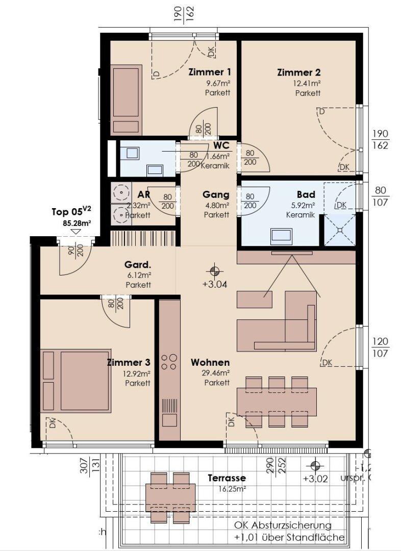 4-Zimmer-Variante 2
