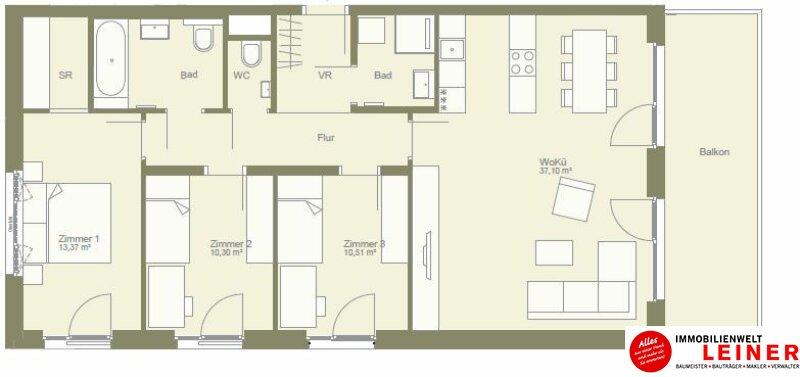 ruhige 4 Zimmerwohnung mit Schrankraum - hier werden Sie glücklich! Objekt_10161 Bild_391