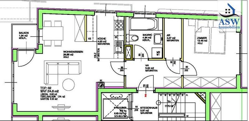 Hübsch 2-Zimmer Neubauwohnung mit Balkon Nähe Hütteldorferstraße /  / 1140Wien,Penzing / Bild 1