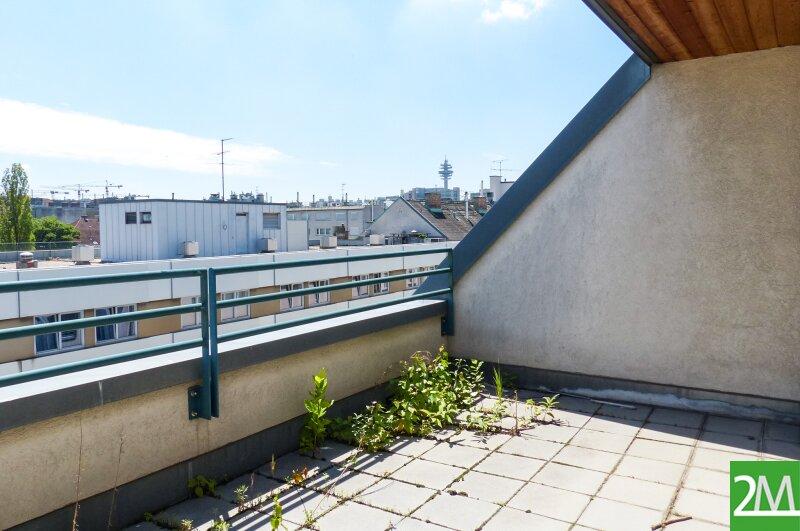 Geräumige 4-Zimmer-Dachgeschoßmaisonette mit Terrasse nahe Rennweg