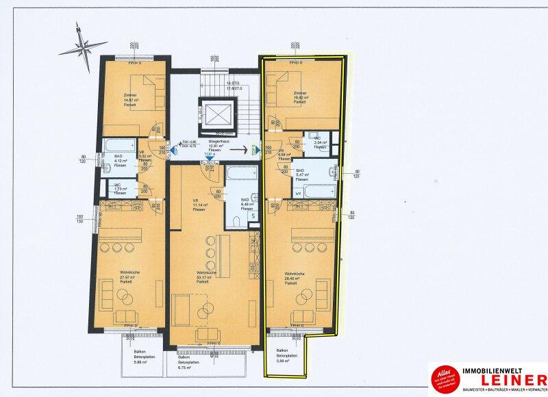 2 Zimmer Wohnung + Eigengarten + Balkon -  Oberlaa, Wohnerlebnis der Extraklasse – Schlüsselfertig – Provisionsfrei! Objekt_8795 Bild_525