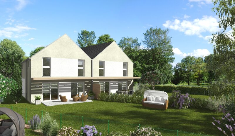 Neues, modernes Doppelhaus mit schönem Blick in herrlicher Ruhelage im Zentrum von Traiskirchen