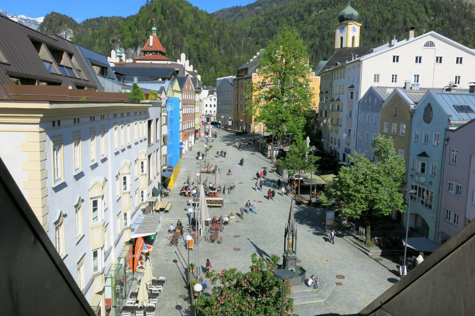 Mietwohnung Kufstein, Ausblick Unterer Stadtplatz