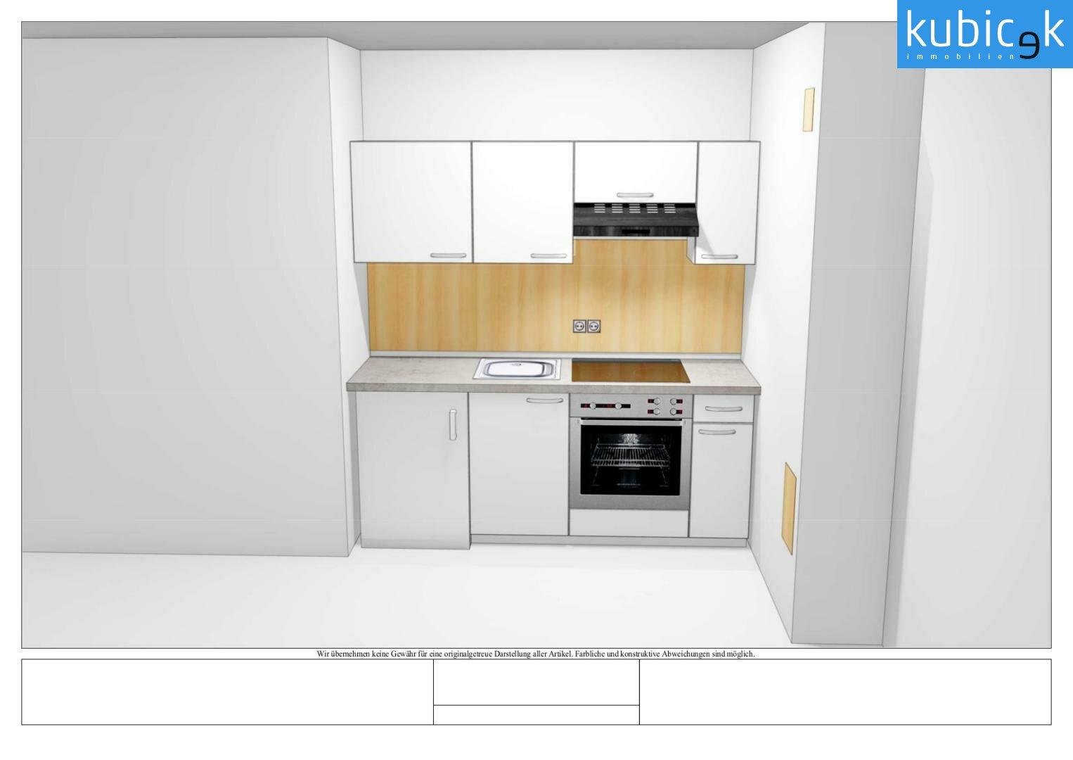 Entwurf Küchenplan