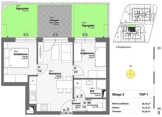 Foto von NEU!++Neubau 2019 ++Nähe U1 ++ 41 Exklusive Eigentums-Wohnungen mit Freiflächen++ 2-4 Zimmer ++ 17 PKW Stellplätze (Tiefgarage) ++ Beziehbar bis ende2019 ++