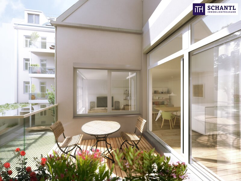 Auf nach Währing! Hochwertig sanierte Altbauwohnung mit hofseitigem Balkon! Wunderschönes und revitalisiertes Altbauhaus + Ruhelage! /  / 1180Wien / Bild 4
