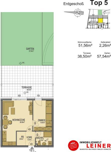 52m² Büro im Neubau mit schönem Garten und Terrasse Objekt_8907 Bild_886
