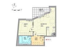 Innenhofseitige 2-Zimmer-Neubauwohnung inkl Küche, Balkon Außenfläche und Kellerabteil / ES66 Top 21 OG5, 21