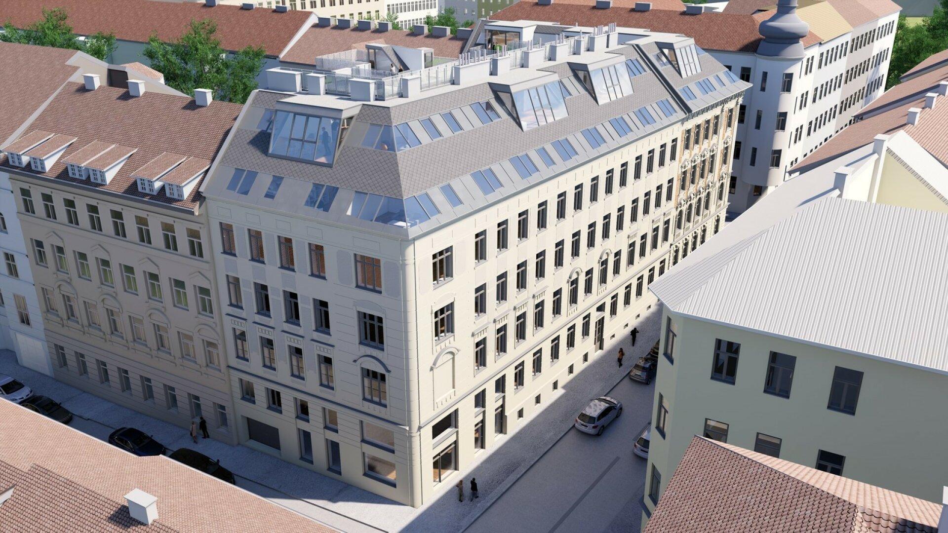 Die Schönheit aus Währing - exklusive Dachterrassen-Wohnungen in wunderschönem Gründerzeithaus | (Projektansicht)