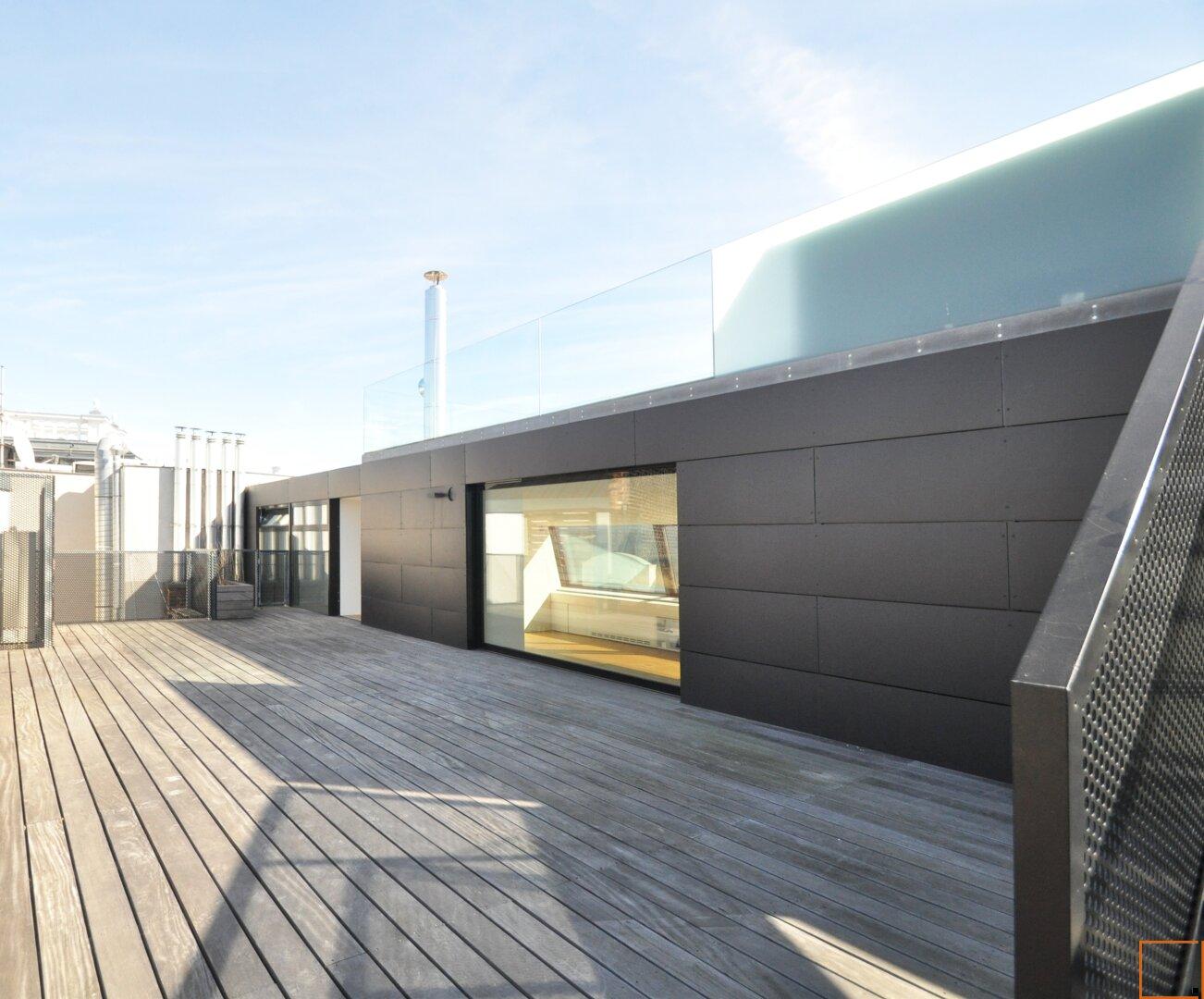 Terrasse auf Wohnniveau