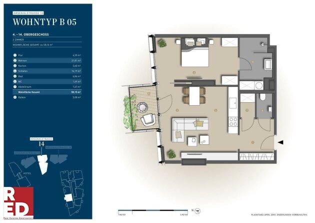 2 Zimmer Wohnung mit Ausblick West Abendsonne (Reserviert)