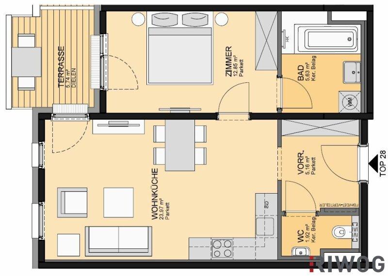 Eigentumswohnung, 2486, Pottendorf, Niederösterreich