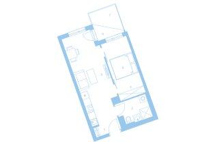 2 Zimmer, 44 m² superaufgeteilte Vorsorgewohnung im 21 Wiener Gemeindebezirk im Eigentum