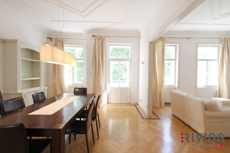 Möblierte 3 Zimmer ALTBAUWOHNUNG mit kleinem BALKON, schönes Haus, gute Lage