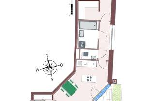 Genial geschnittene 2-Zimmerwohnung mit Loggia und viel Stauraum