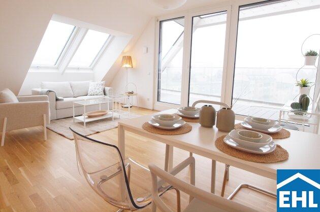 PROVISIONSFREI: 3-Zimmer DG-Wohnung mit westseitiger Terrasse und Klimaanlage