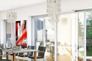 116m² + südseitige 20m² Terrasse plus Garten + 4 Zimmer + Erstbezug 2021