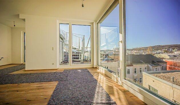 Foto von NEU! ++ Erstbezug: 3 Zimmer DG- Wohnung mit 2 Terrassen + Dachterrasse mit herrlichem Wienblick, 1140 Wien (Top 16) ++