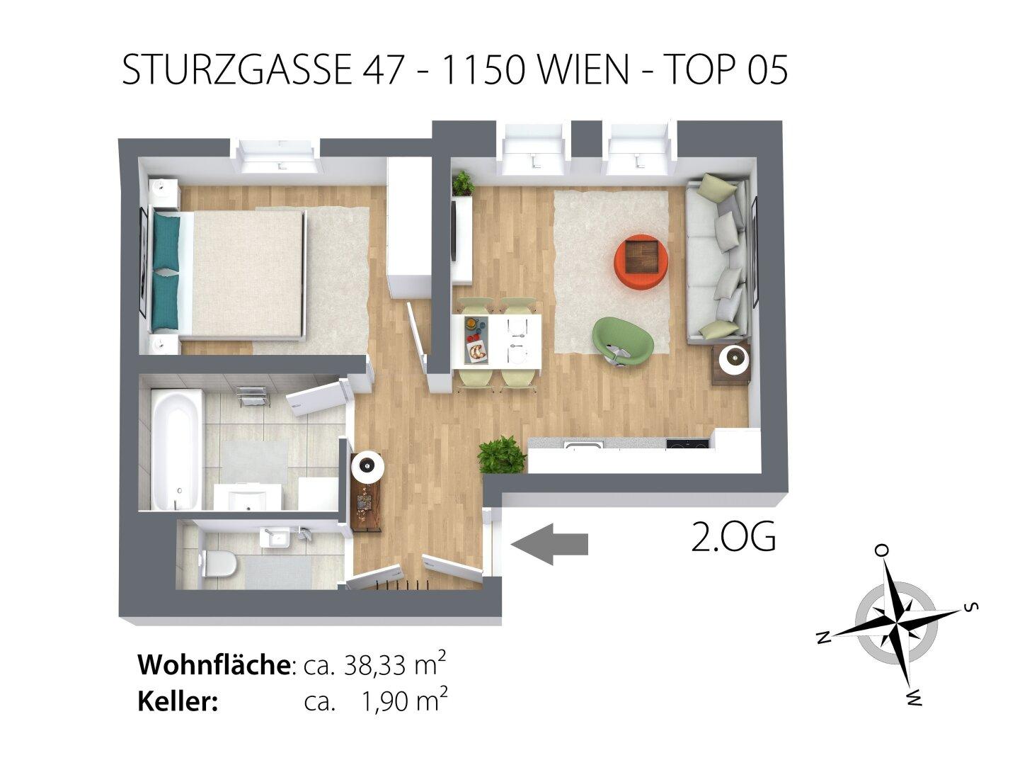 Grundriss 3D TOP 05