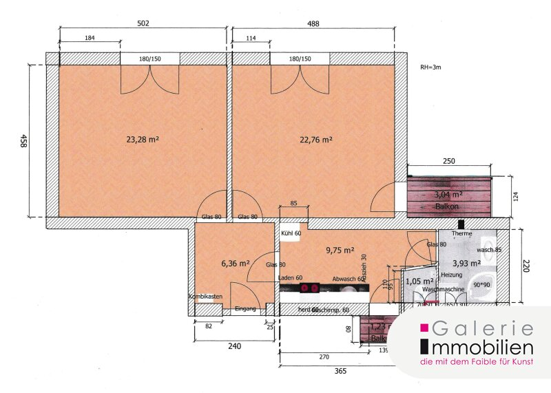 Zentral begehbar - Sanierte 2-Zimmer-Altbauwohnung mit Balkon Objekt_35280 Bild_147