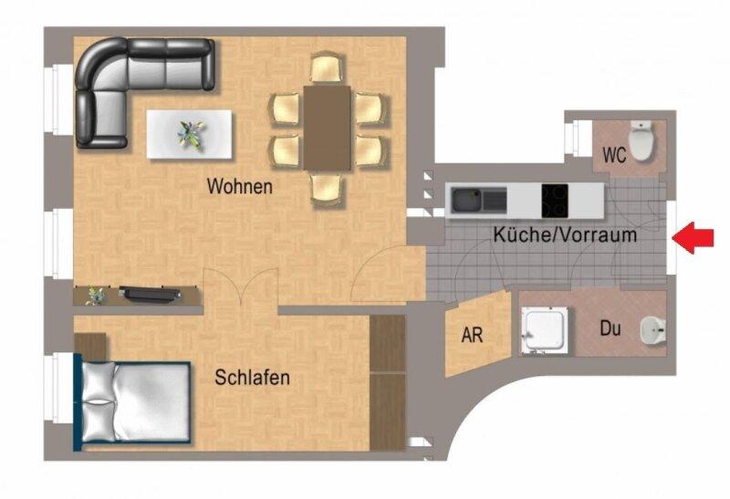 ERSTEBZUG nach Sanierung - 2 Zimmer Stil ALTBAU Wohnung - 1090 Wien - 3. OG - Top 22 - SMARTHOME - U6 Nähe - geplanter Lift /  / 1090Wien / Bild 0