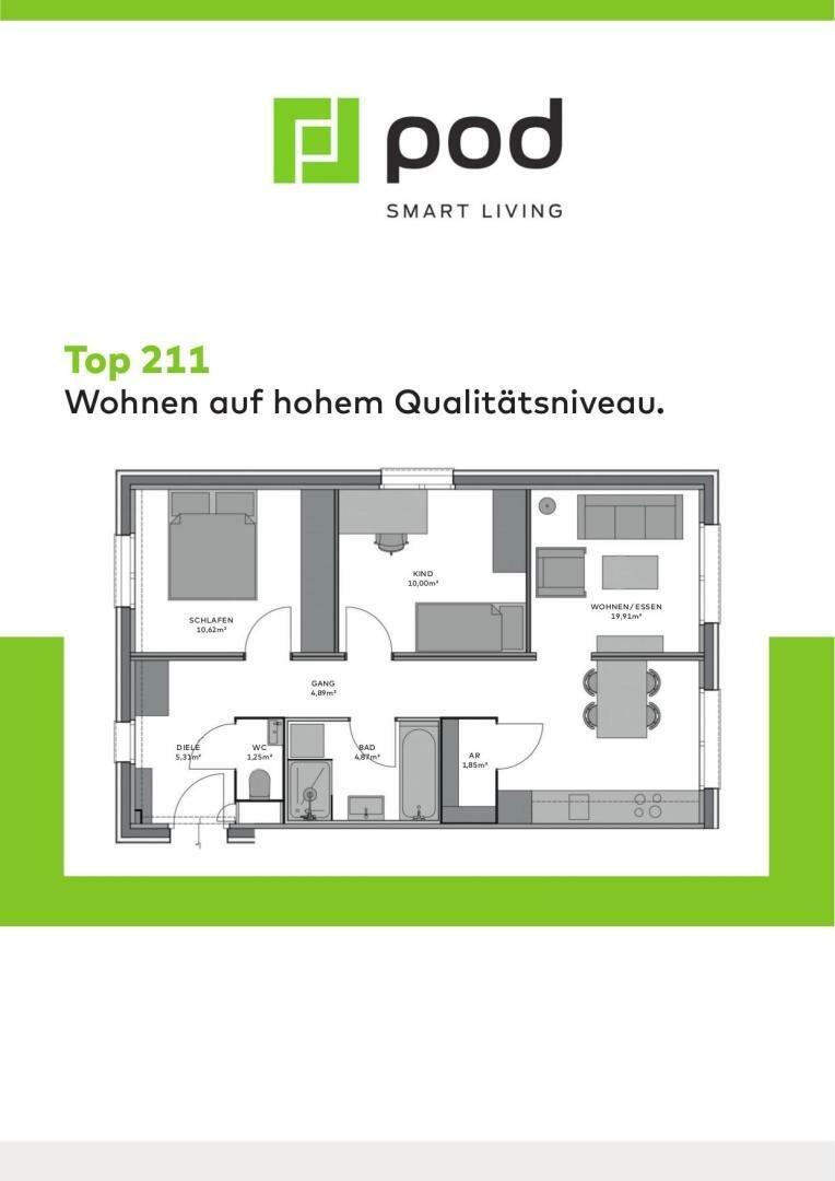 Wohnungsplan Top 211