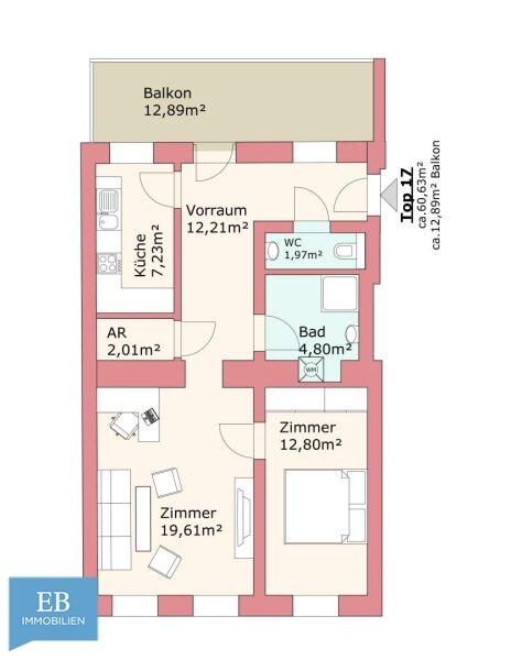 WOHNEN IM ALTBAU  / 2 Zimmer / Erstbezug / Balkon /  / 1180Wien / Bild 8