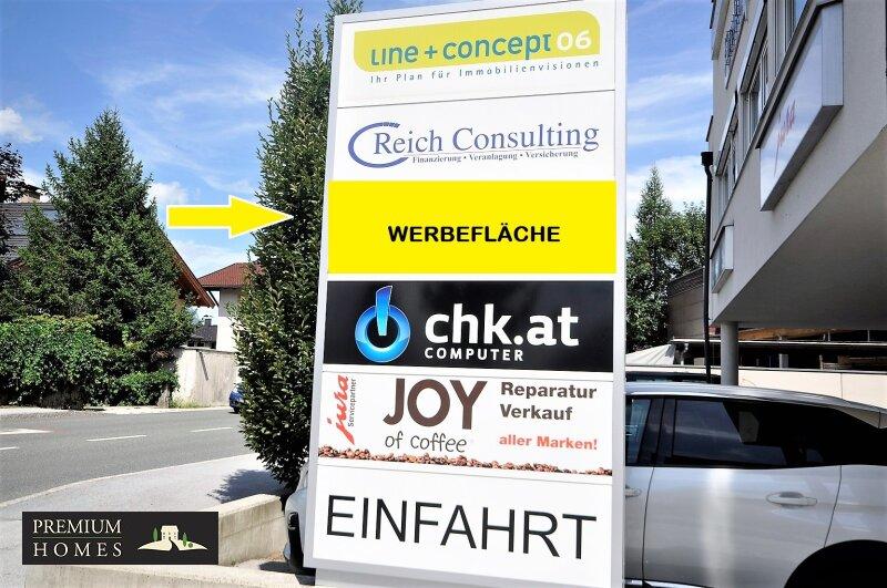 WÖRGL_ ANLAGE_ Rendite_Objekt im Zentrum von Wörgl ca. 4,00 % p.a _ Geschäftsfläche zu verkaufen_Werbefläche_Ansicht Richtung Westen