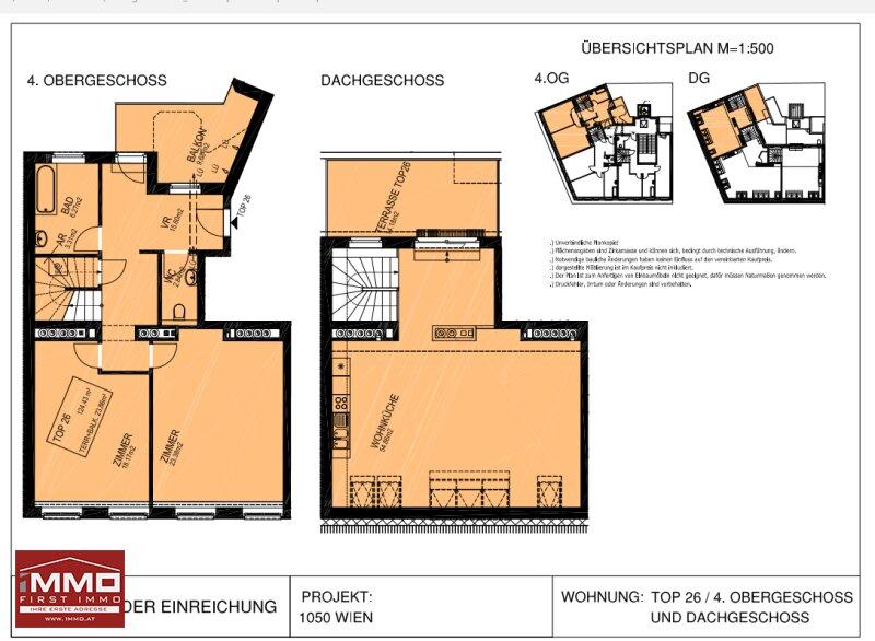 Extravagante Dachgeschoß-Maisonette mit 2 Terrassen! /  / 1050Wien / Bild 8