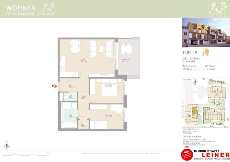 Provisionsfreie Eigentumswohnung mit  7,36m²  Terrasse & 2,45m²  Loggia Objekt_15336 Bild_218