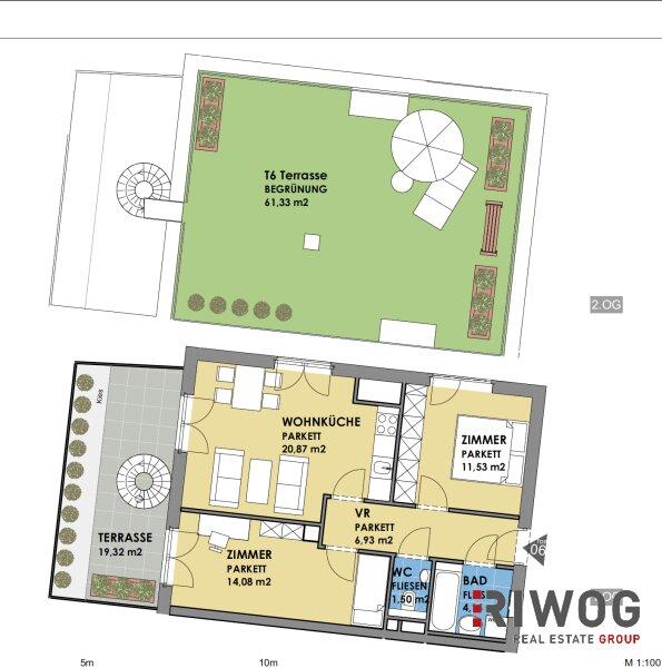 ERSTBEZUG - wunderschöne 3-Zimmer Wohnung  mit riesiger Dachterrasse im Hofzubau /  / 1180Wien / Bild 7