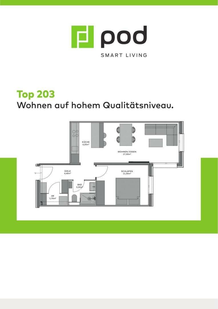 Wohnungsplan Top 203