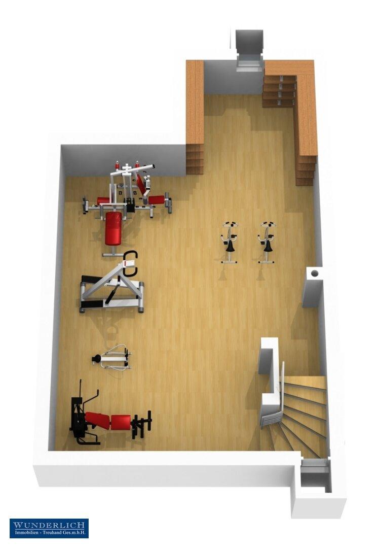 3D-Visualisierung 1 - Kellergeschoß