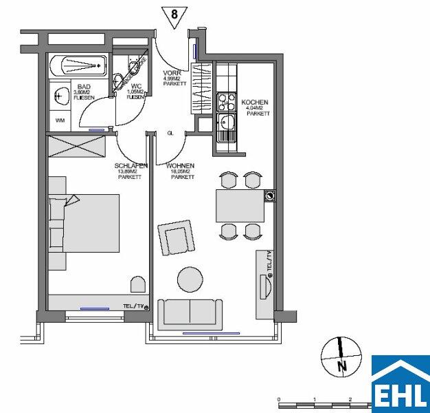 Schöne 2 Zimmerwohnung nahe dem AKH /  / 1180Wien / Bild 6