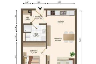 2-Zimmer-Wohnung an der Donau