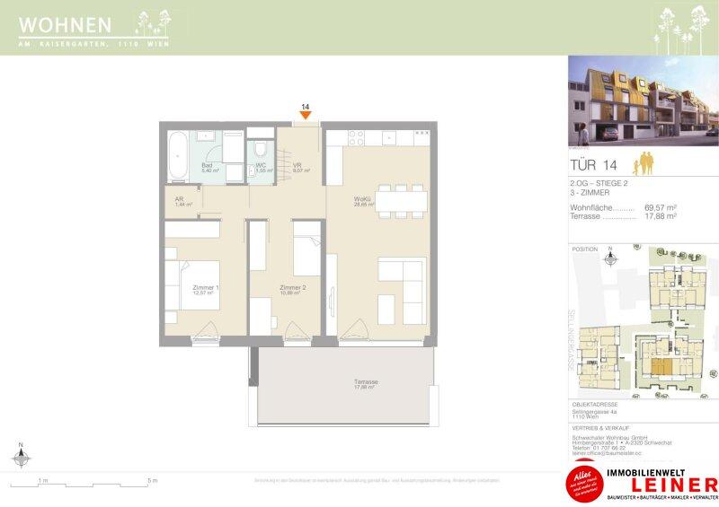 Eine Wohnung auf die alle abfahren! Eigentumswohnung mit 17,88m² sonniger Terrasse - ohne Provision - 3 Zimmer Objekt_15342 Bild_279