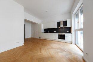 Erstbezug, Hofseitig ausgerichtete 3-Zimmer Gartenwohnung + 2 Terrassen, Nähe Mariahilfer Straße